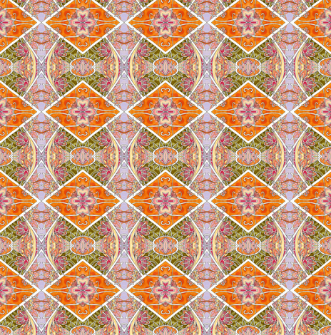 Orange Harlequin Argyle