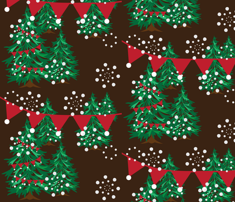 Choosing a Tree - Multi Green fabric by owlandchickadee on Spoonflower - custom fabric