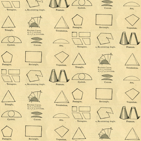 Geometry Lesson fabric by edsel2084 on Spoonflower - custom fabric