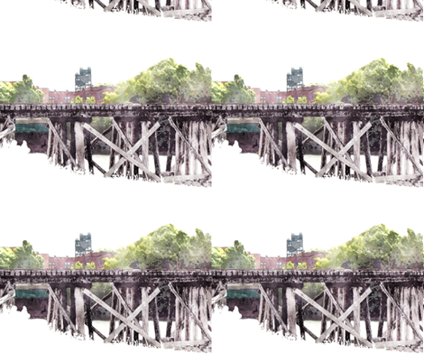 N.S.&T. Trestle Bridge 1, L fabric by animotaxis on Spoonflower - custom fabric