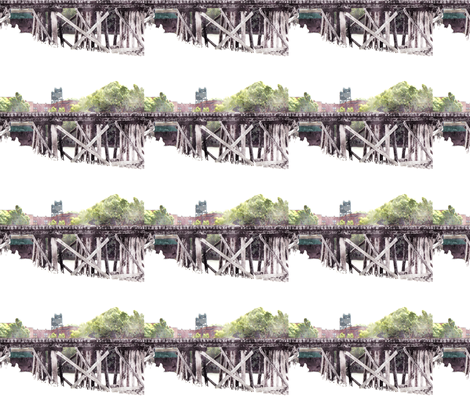 N.S.&T. Trestle Bridge 1, S fabric by animotaxis on Spoonflower - custom fabric