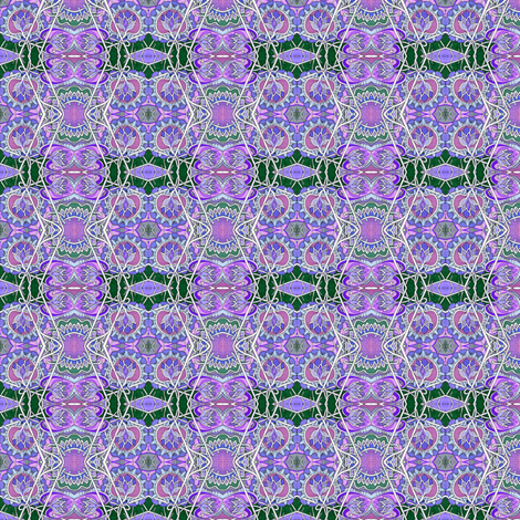 Purple and Green Zig Zag vertical stripe  fabric by edsel2084 on Spoonflower - custom fabric