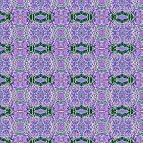 Purple and Green Zig Zag vertical stripe