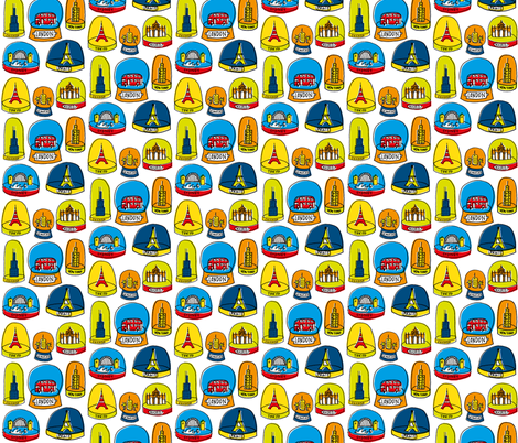 Snow Domes fabric by amywalters on Spoonflower - custom fabric