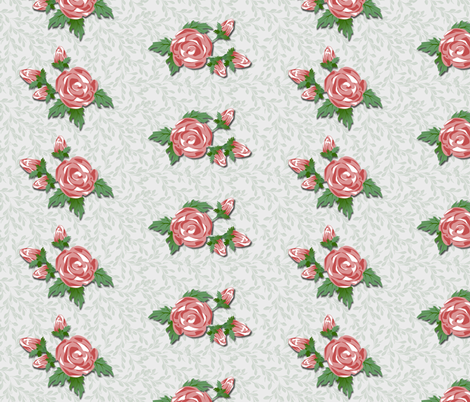 Just the Roses fabric by glimmericks on Spoonflower - custom fabric