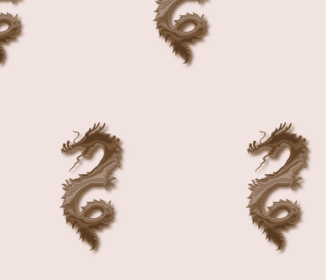 Brown Mink Dragon, L fabric by animotaxis on Spoonflower - custom fabric