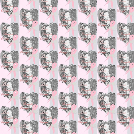 pink-love fabric by tinhearts on Spoonflower - custom fabric
