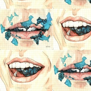 Mouth (Blue Chew)