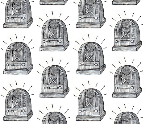 Olde Timey Radio fabric by *erinred* on Spoonflower - custom fabric