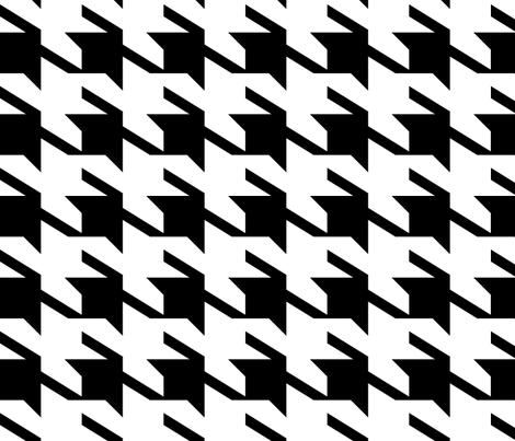 houndstoothe_black_and_white fabric by holli_zollinger on Spoonflower - custom fabric