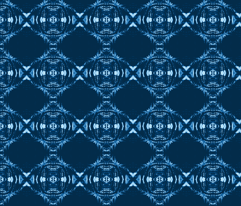 Flame Shibori (indigo) fabric by allida on Spoonflower - custom fabric