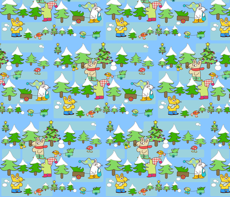 Choosing a Christmas tree fabric by kato_kato on Spoonflower - custom fabric
