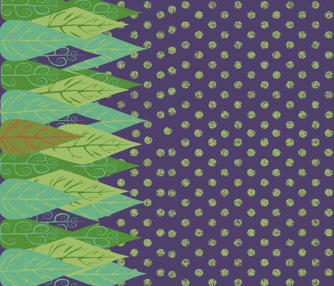 evergreen landscape  fabric by the_collectionist on Spoonflower - custom fabric