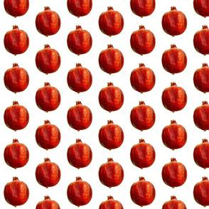 Pomegranates pur white