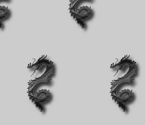 Black Dragon, L fabric by animotaxis on Spoonflower - custom fabric
