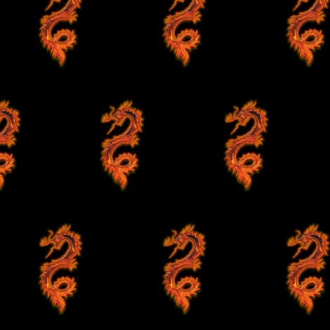 Fiery Dragon, S fabric by animotaxis on Spoonflower - custom fabric