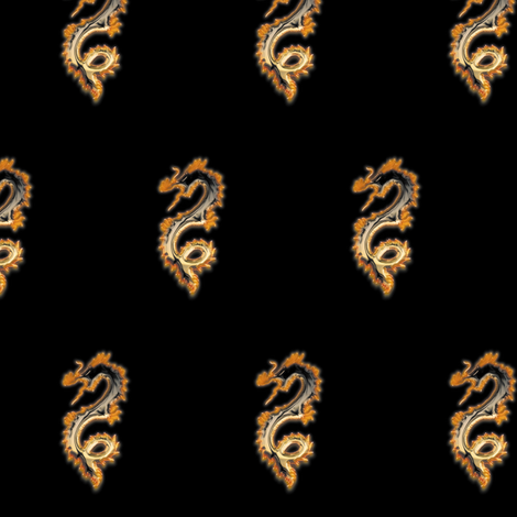 Copper Bronze Dragon, S fabric by animotaxis on Spoonflower - custom fabric