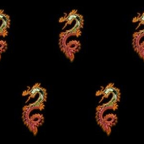 Fiery Gold Red Dragon, S