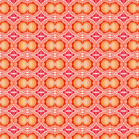 Screaming Orange Atomic Fusion fabric by edsel2084 on Spoonflower - custom fabric