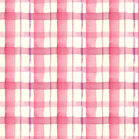 Mauve Plaid fabric by countrygarden on Spoonflower - custom fabric