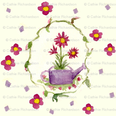 Little Lavender Watering Can
