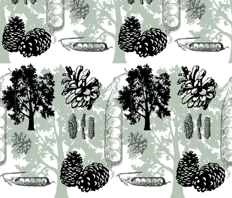 evergreens - green fabric by wiccked on Spoonflower - custom fabric