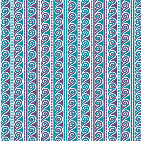 Wave Stripe fabric by siya on Spoonflower - custom fabric