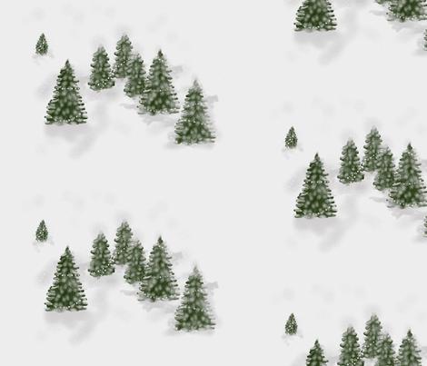 pine fabric by claudiavv on Spoonflower - custom fabric