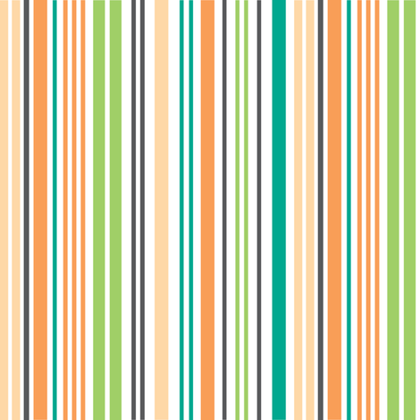 Summer Breeze - Stripe Multi fabric by doodletrain on Spoonflower - custom fabric