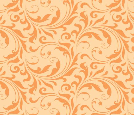 Summer Breeze - Flourish Sorbet fabric by doodletrain on Spoonflower - custom fabric