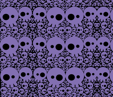 skullbubbleprbl fabric by karmacranes on Spoonflower - custom fabric