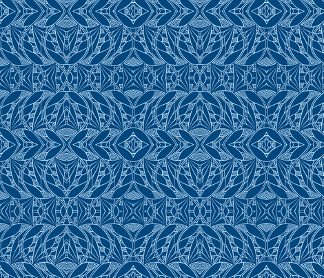 Dark & Light (blues) fabric by mbsmith on Spoonflower - custom fabric