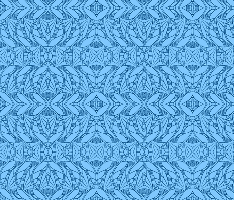 Dark & Light (blues reversed) fabric by relative_of_otis on Spoonflower - custom fabric