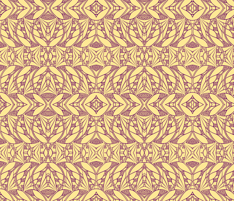 Dark & Light (gold-magenta) fabric by relative_of_otis on Spoonflower - custom fabric
