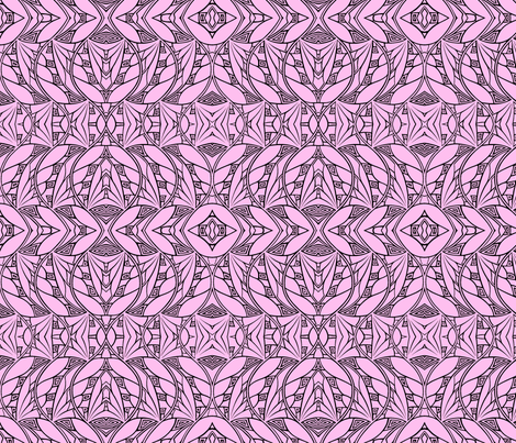 Dark & Light (soft pink/black) fabric by relative_of_otis on Spoonflower - custom fabric