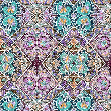 Interlocking Diamonds with Victorian Flair fabric by edsel2084 on Spoonflower - custom fabric
