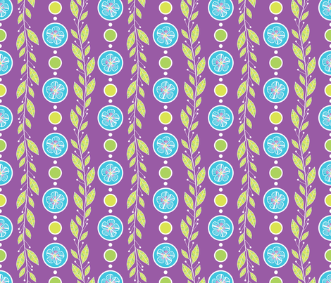 A Blue Bouquet Dot fabric by robyriker on Spoonflower - custom fabric