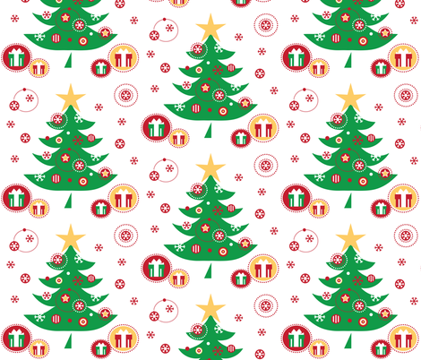 Christmas Trees fabric by jenniferfranklin on Spoonflower - custom fabric