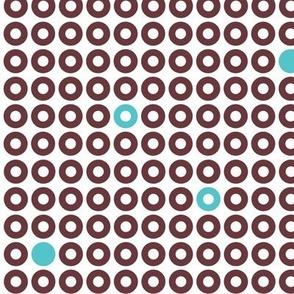 Modern Dots_BrownBlue