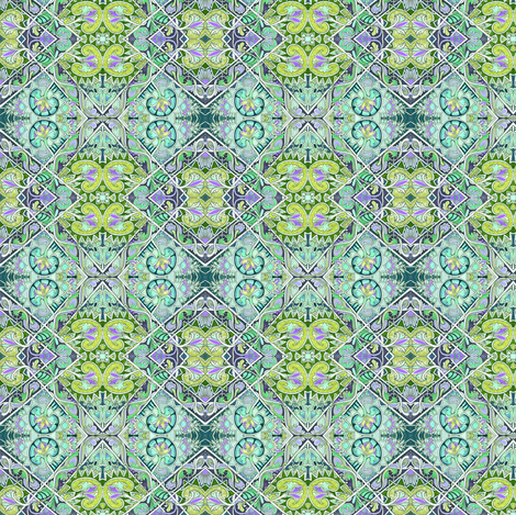 Diamonds Going Green fabric by edsel2084 on Spoonflower - custom fabric