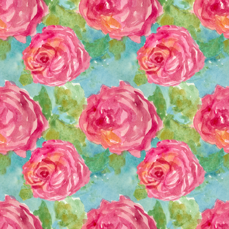 Cabbage Rose fabric by countrygarden on Spoonflower - custom fabric