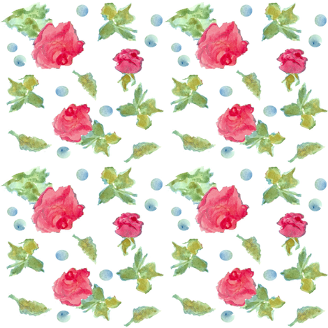 Rosebuds and Dots fabric by countrygarden on Spoonflower - custom fabric