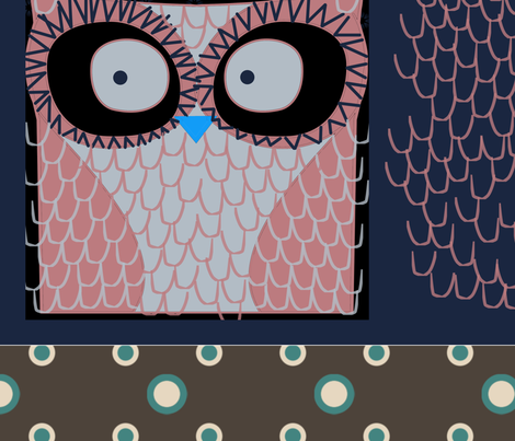 owl__pillows fabric by suziwollman on Spoonflower - custom fabric
