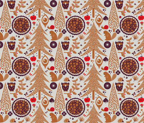Forest in her world fabric by verycherry on Spoonflower - custom fabric