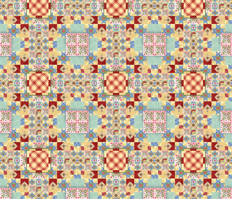 Homespun Quilt Patchwork by Patricia Shea fabric by patricia_shea on Spoonflower - custom fabric