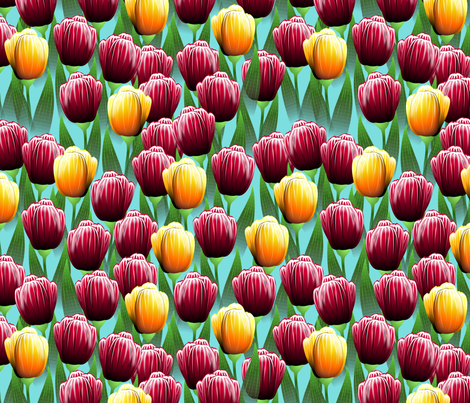 Field of Tulips fabric by glimmericks on Spoonflower - custom fabric