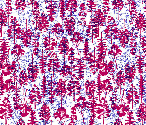 TREES UP & DOWN fabric by natasha_k_ on Spoonflower - custom fabric