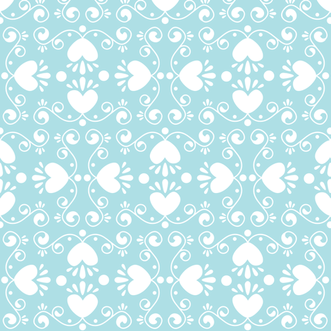 Vánoce Motif (Blue) fabric by robyriker on Spoonflower - custom fabric