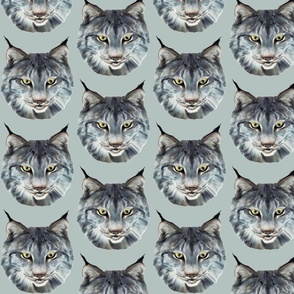 the wild cat wild animal fabric