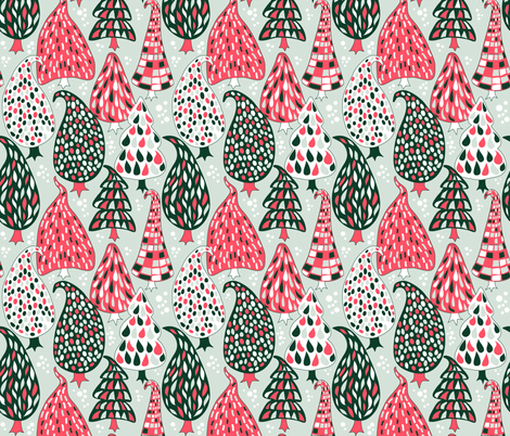 Evergreens without the greens fabric by irrimiri on Spoonflower - custom fabric